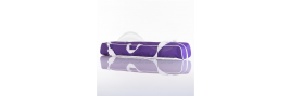 Nylon baton bag purple